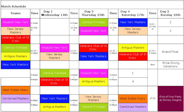 cricketfest2012schedule