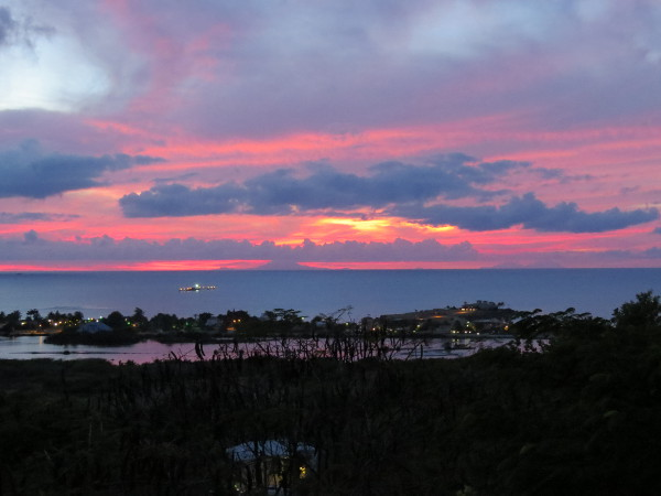 Colourful sunset from Bay House Restaurant