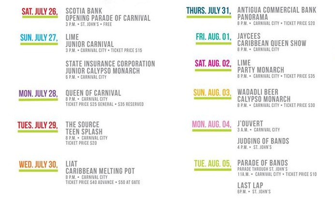 carnival2014schedule